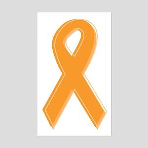 Orange Aware Ribbon Sticker (Rectangle)