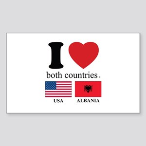 USA-ALBANIA Sticker (Rectangle)