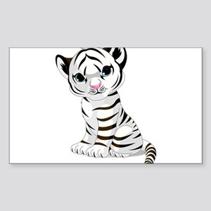 Baby White Tiger Sticker