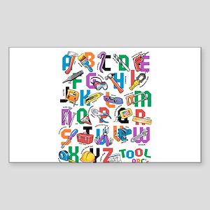 ABC Tools Sticker (Rectangle)