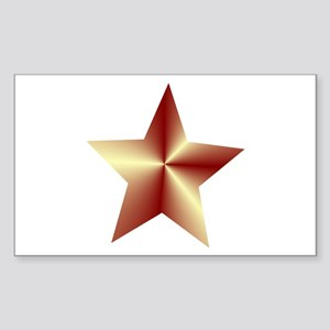 Bronze Star Sticker (Rectangle)