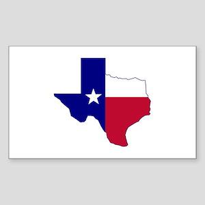 Texas Flag Map Sticker (Rectangle)