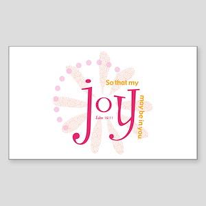 Joy Rectangle Sticker