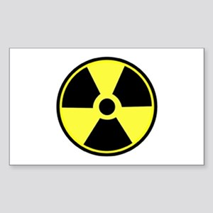 Radioactive Rectangle Sticker