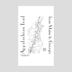 Appalachian Trail Map Sticker (Rectangle)