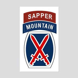 10th Mountain Sapper Sticker (Rectangle)
