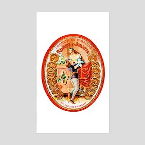 Romeo & Juliet Cigar Label Sticker (Rectangle)