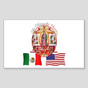 Reina de Mexico Rectangle Sticker