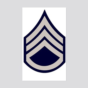 Army-SSgt-WWII-Khaki Sticker (Rectangle)