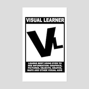 Visual Learner Rectangle Sticker