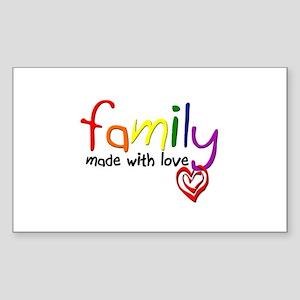 Gay Family Love Rectangle Sticker
