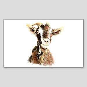 Watercolor Goat Farm Animal Sticker