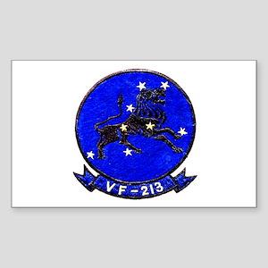 VF 213 Black Lions Rectangle Sticker