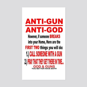 GOD and GUNS Sticker