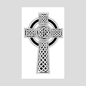 Celtic Knot Cross Rectangle Sticker