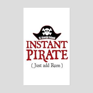 St. George Island Pirate - Sticker (Rectangle)