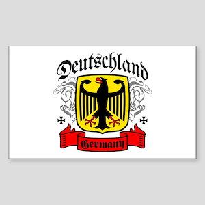 Deutschland Coat of Arms Rectangle Sticker