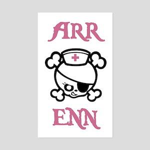 Arr Enn Rectangle Sticker