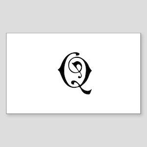 Royal Monogram Q Sticker