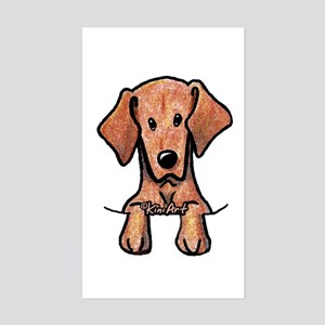 Pocket Vizsla Sticker (Rectangle)