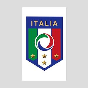 Italian Soccer emblem Rectangle Sticker