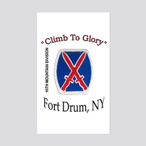 "10th Mountain Div ""Climb To G Sticker (Rectan"