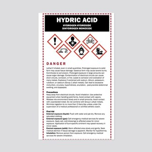 Hydric Acid / DHMO Warning Lab Sticker (Rectangle)