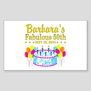 50TH BIRTHDAY Sticker (Rectangle)