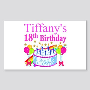 PERSONALIZED 18TH Sticker (Rectangle)