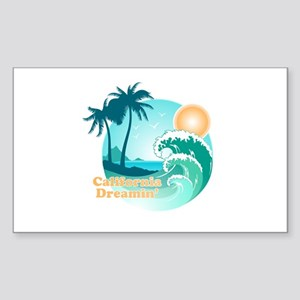 California Dreamin Sticker (Rectangle)