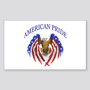 American Pride Eagle Sticker (Rectangle)