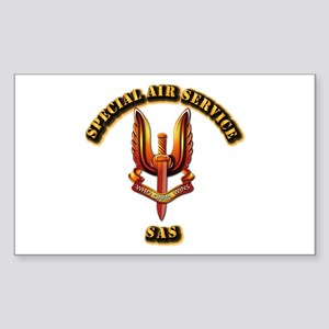 UK - Special Air Service Sticker (Rectangle)