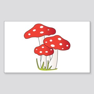 Polka Dot Mushrooms Sticker