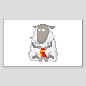 Sheep Knitting Sock Sticker