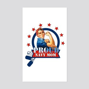 Rosie Proud Navy Mom Rectangle Sticker