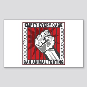 Empty Every Cage Sticker (Rectangle)