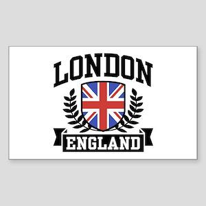 London England Rectangle Sticker