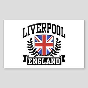 Liverpool England Rectangle Sticker
