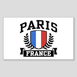 Paris France Rectangle Sticker