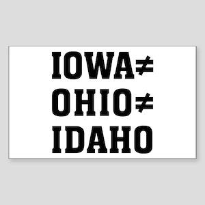 Iowa Ohio Sticker (Rectangle)