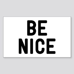 Be Nice Sticker (Rectangle)