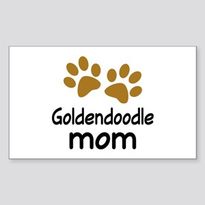 Cute Goldendoodle Mom Sticker (Rectangle)