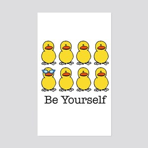 BE YOURSELF Rectangle Sticker