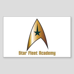 Star Fleet Academy Sticker (Rectangle)