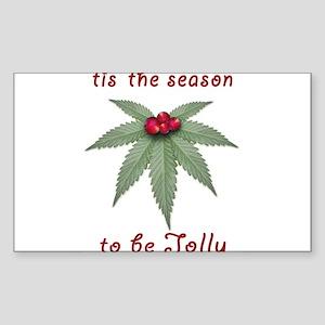 Tis the Season to be Jolly Holiday Weed Design Sti