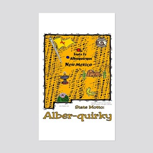 NM-Alber-quirky! Rectangle Sticker