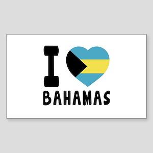 I Love Bahamas Sticker (Rectangle)