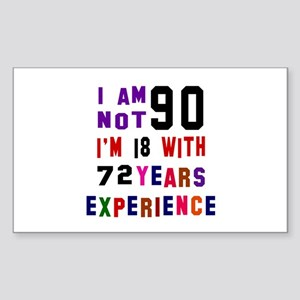 90 Birthday Designs Sticker (Rectangle)