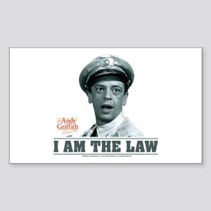 I Am The Law Sticker (Rectangle)