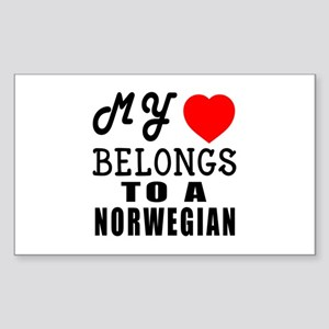 I Love Norwegian Sticker (Rectangle)